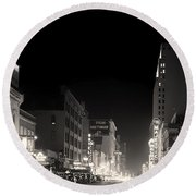Downtown Dallas 1942 Round Beach Towel