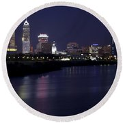 Downtown Indianapolis Indiana  Round Beach Towel