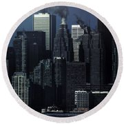 Downtown Round Beach Towel