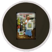 Downtown Marketplace Show Round Beach Towel