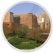 Downtown Omaha Ne Round Beach Towel