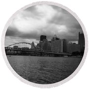 Downtown Pittsburgh Round Beach Towel
