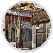Downtown Silver Plume Round Beach Towel