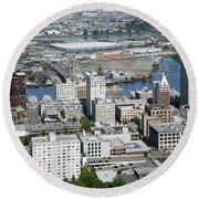 Downtown Tacoma Washington Round Beach Towel