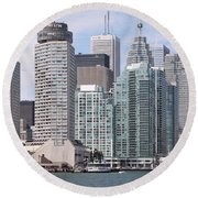 Downtown Toronto Ontario Round Beach Towel