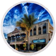 Downtown Ventura Round Beach Towel