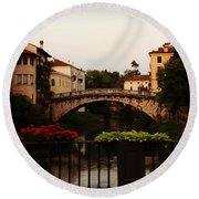 Downtown Vicenza Round Beach Towel