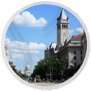 Downtown Washington Round Beach Towel