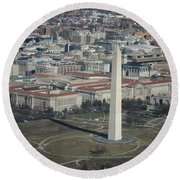 Downtown Washington Dc Round Beach Towel