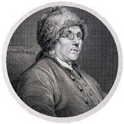 Dr Benjamin Franklin Round Beach Towel