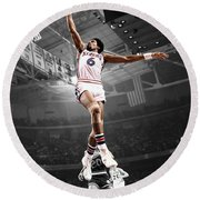 Dr J Round Beach Towel