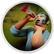 Dr. Jekyl And Mr. Hyde Round Beach Towel