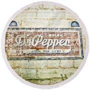 Dr Pepper-good For Life Round Beach Towel