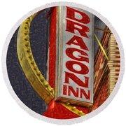 Dragon Inn Restaurant  Round Beach Towel