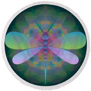 Dragonfly 2013 Round Beach Towel