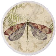 Dragonfly Daydreams-d Round Beach Towel