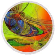 Dragonfly Fancy Round Beach Towel