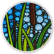 Dragonfly Pond By Sharon Cummings Round Beach Towel
