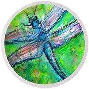 Dragonfly Spring Round Beach Towel