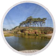 Dragons Back Budleigh Salterton Round Beach Towel
