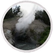 Dragon's Mouth Hot Spring Round Beach Towel
