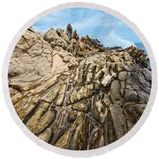 Dragon's Teeth Round Beach Towel