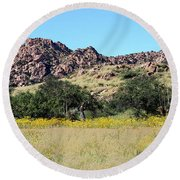Dragoon Mountains Round Beach Towel