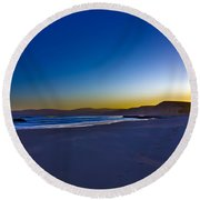 Drake's Beach Hdr Round Beach Towel
