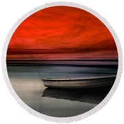 Drama Lake Round Beach Towel