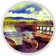 Dramatic Derwent Round Beach Towel