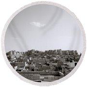 The City Of Jaisalmer Round Beach Towel