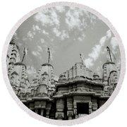 The Jain Temples Round Beach Towel