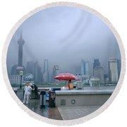 Dramatic Shanghai Round Beach Towel