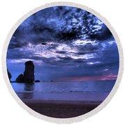 Dramatic Sunset Round Beach Towel