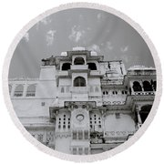Dramatic Udaipur Round Beach Towel
