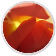 Glowing Orange Rose 2 Round Beach Towel