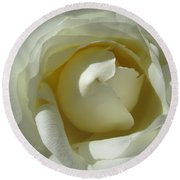 Dramatic White Rose 2 Round Beach Towel