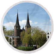Drawbridge - Delft - Netherlands Round Beach Towel