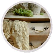 Drawer Of Lace Round Beach Towel by Diana Angstadt