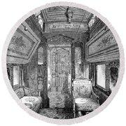 Drawing-room Car, 1869 Round Beach Towel