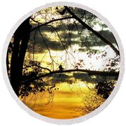 Dream At Dusk Round Beach Towel