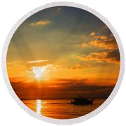 Dream Big Round Beach Towel