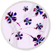 Dream Flowers Round Beach Towel
