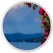 Dream Full Of Roses Round Beach Towel