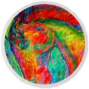 Dream Horse Round Beach Towel