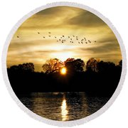 Dream Of A Sunset Round Beach Towel