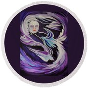 Dream On Little Soul Round Beach Towel