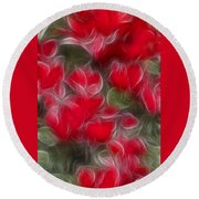Dream Red 5232 Round Beach Towel