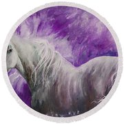 Dream Stallion Round Beach Towel