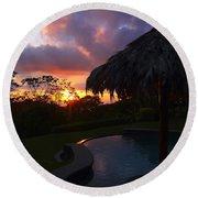 Dream Sunset In Costa Rica Round Beach Towel